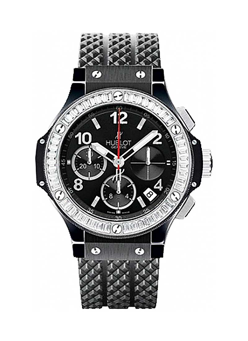 Hublot Big Bang Black Magic 41mm in Black Ceramic with Baguette Diamond Bezel
