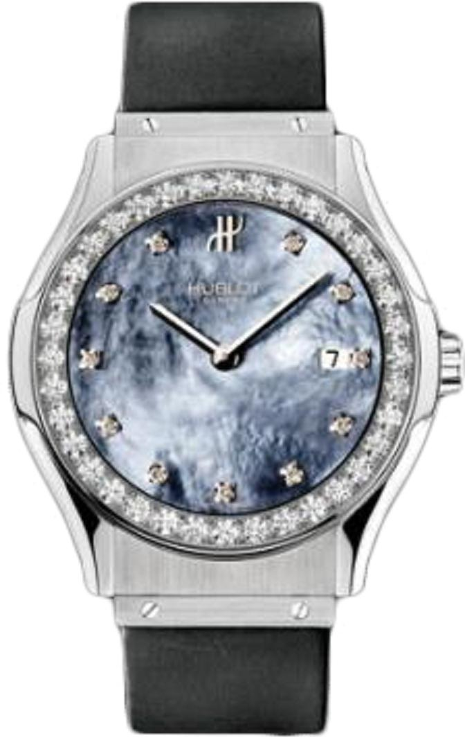 Hublot Classic 41mm in Steel with Diamond Bezel