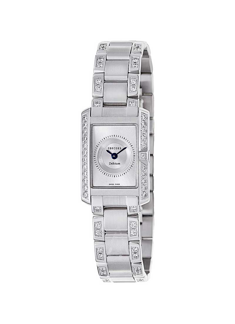 Concord Lady's Delirium in White Gold with Partial Diamond Bezel