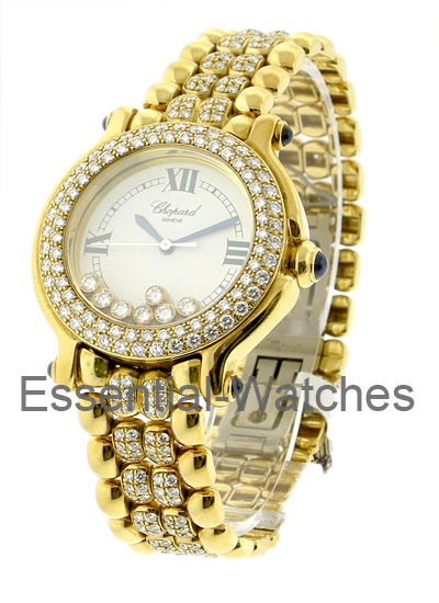 Chopard  Happy Sport Round with 2 Row Diamond Bezel