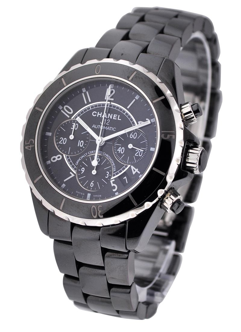 Chanel J12 Black Chronograph in Black Ceramic
