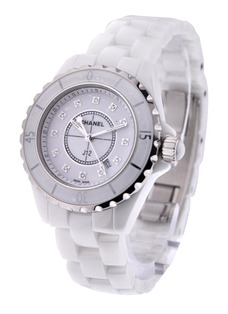 Chanel J12 White with Diamond Dial H1628