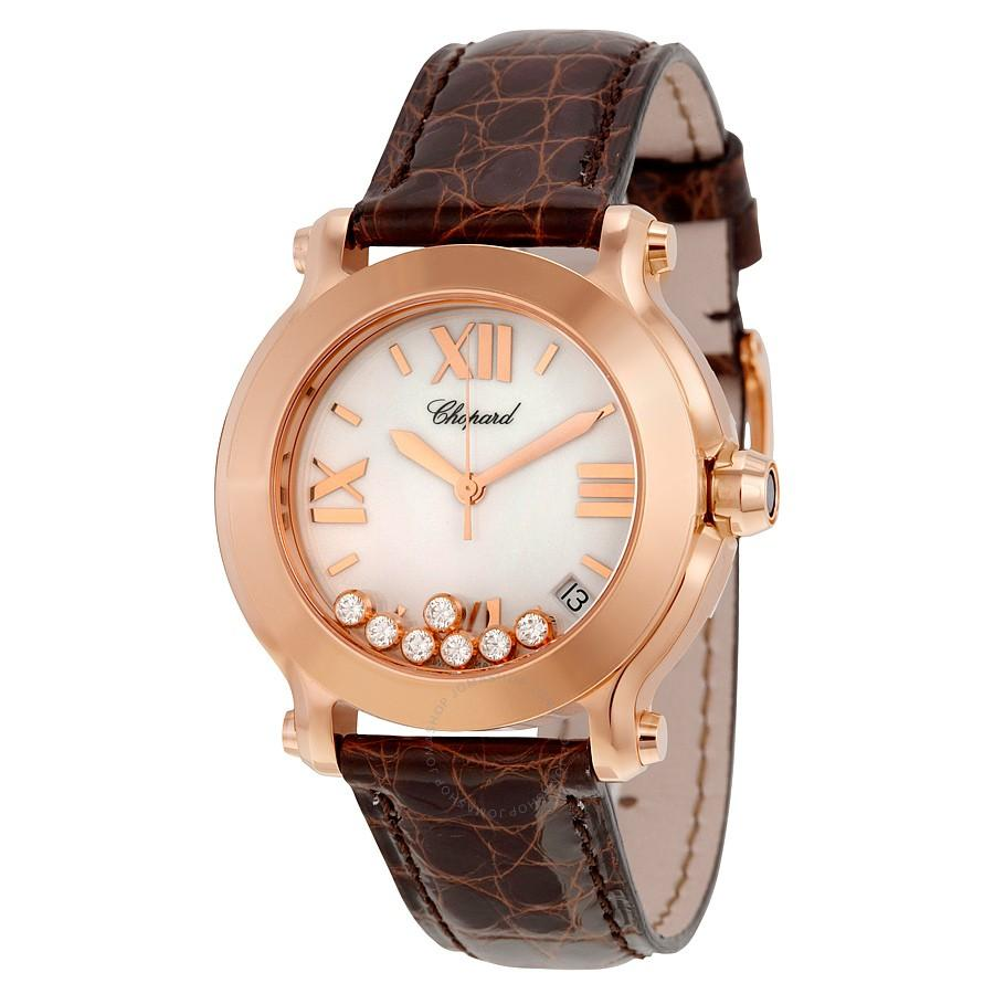 Chopard Happy Sport Round Mid Size in Rose Gold