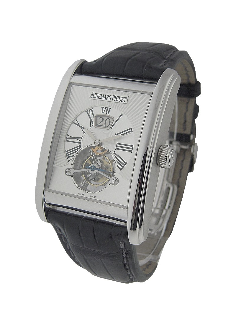 Audemars Piguet Edward Piguet Tourbillon with Big Date in White Gold