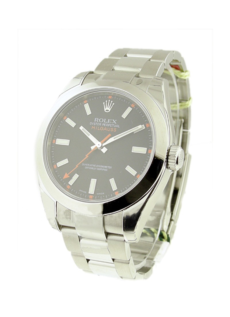 Rolex Unworn Milgauss in Steel with Smooth Bezel