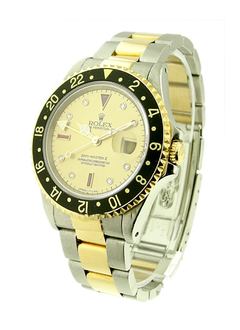 Rolex Used GMT-Master in Steel and Yellow Gold with Black Bezel