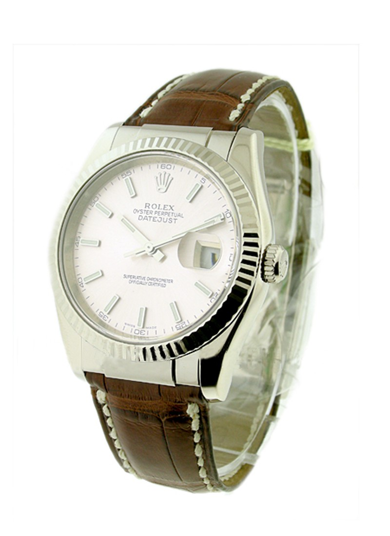 Rolex Used Mens Datejust in White Gold