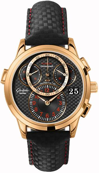 Glashutte PanoMaticChrono Flyback 39mm Autoamtic in Rose Gold
