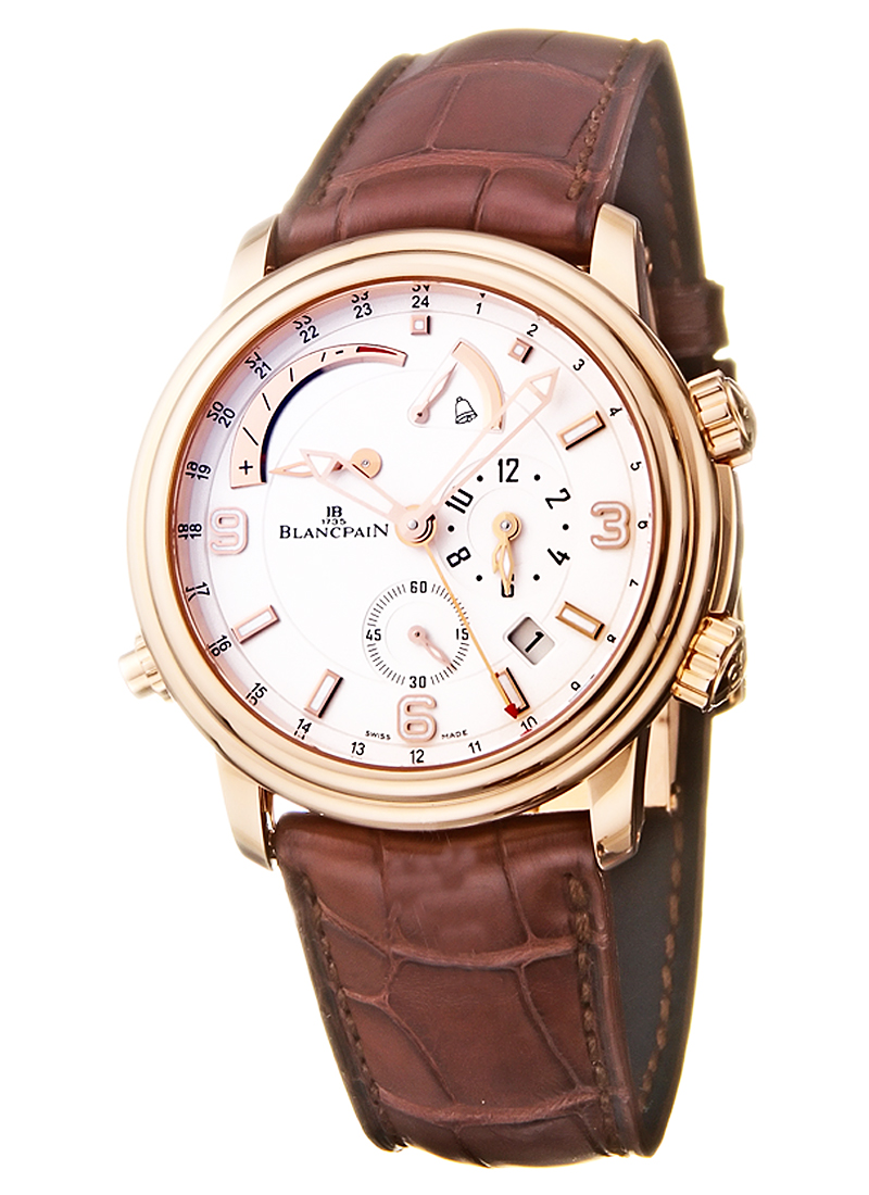 Blancpain Leman  GMT Alarm 40mm Automatic in Rose Gold