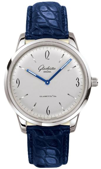 Glashutte Senator Sixties 42mm Autoamtic in White Gold