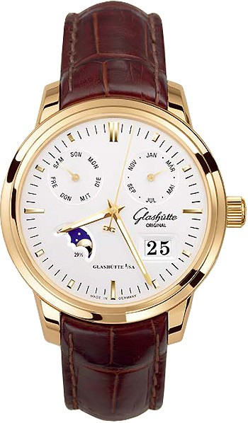 Glashutte Senator Calendar 40mm Automatic in Rose Gold