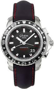 Glashutte Sport Evolution GMT 42mm Autoamtic in Steel with PVD & Steel Bezel
