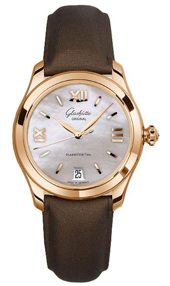 Glashutte Lady Serenade 36mm Autoamtic in Rose Gold