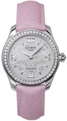Glashutte Lady Serenade 36mm Automatic in Steel with Diamond Bezel