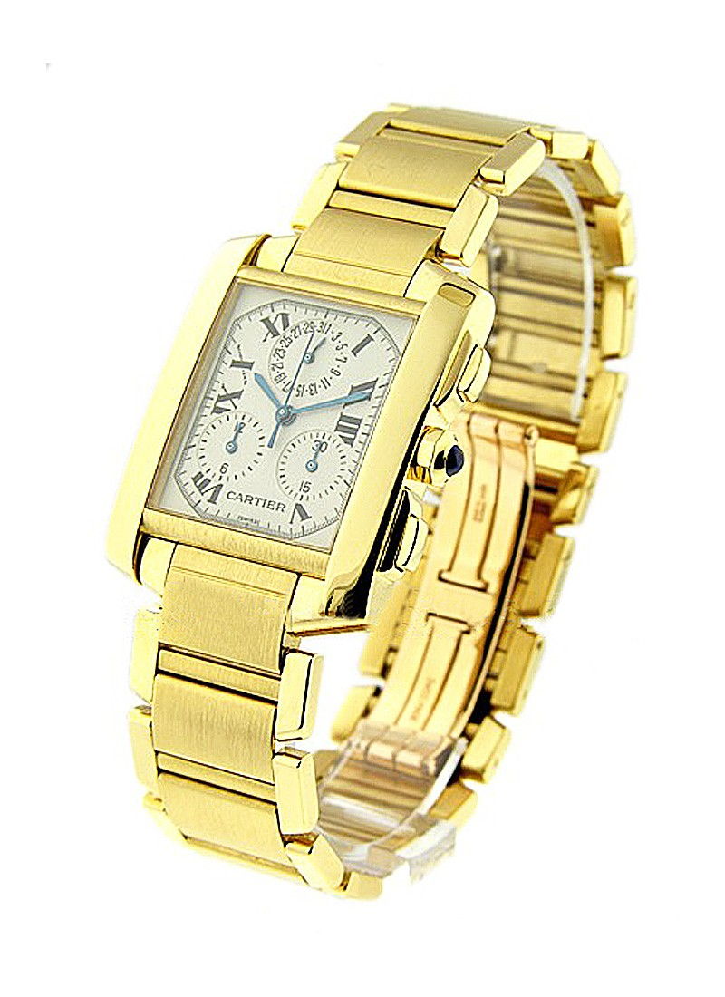 Cartier Tank Francaise Chronograph in Yellow Gold