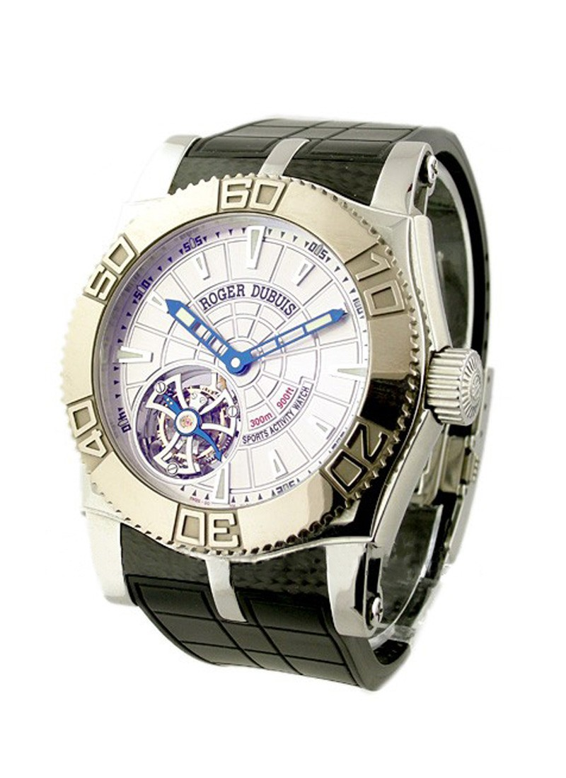 Roger Dubuis Easy Diver   Tourbillon   White Gold Bezel