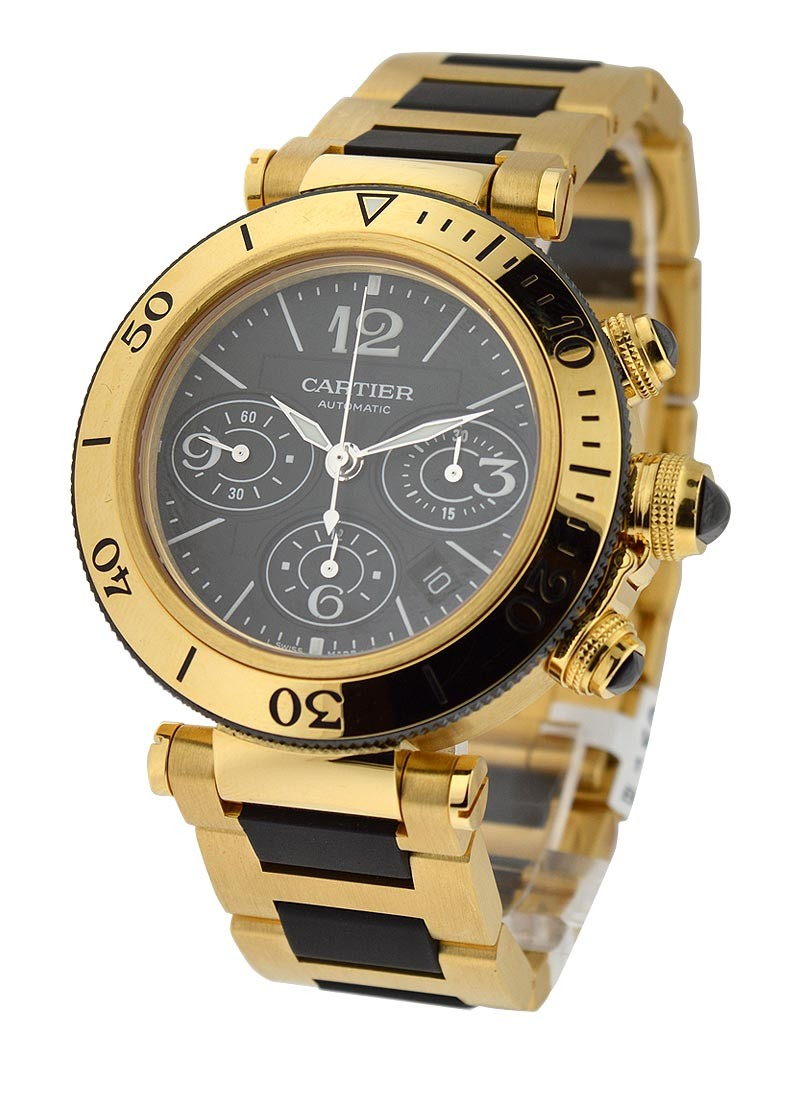 Cartier Seatimer Pasha Chronograph in Yellow Gold