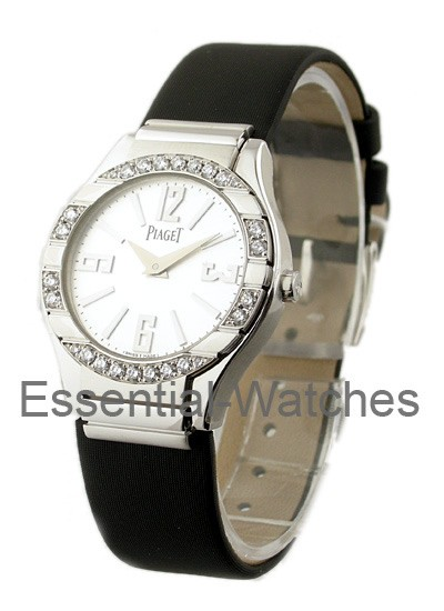 Piaget Polo in White Gold with Diamond Bezel