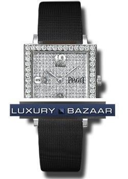 Piaget Altiplano Square   Mid Size in White Gold with Diamond Bezel