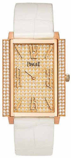 Piaget Black Tie 1967   Large Size in Rose Gold with Diamond Bezel