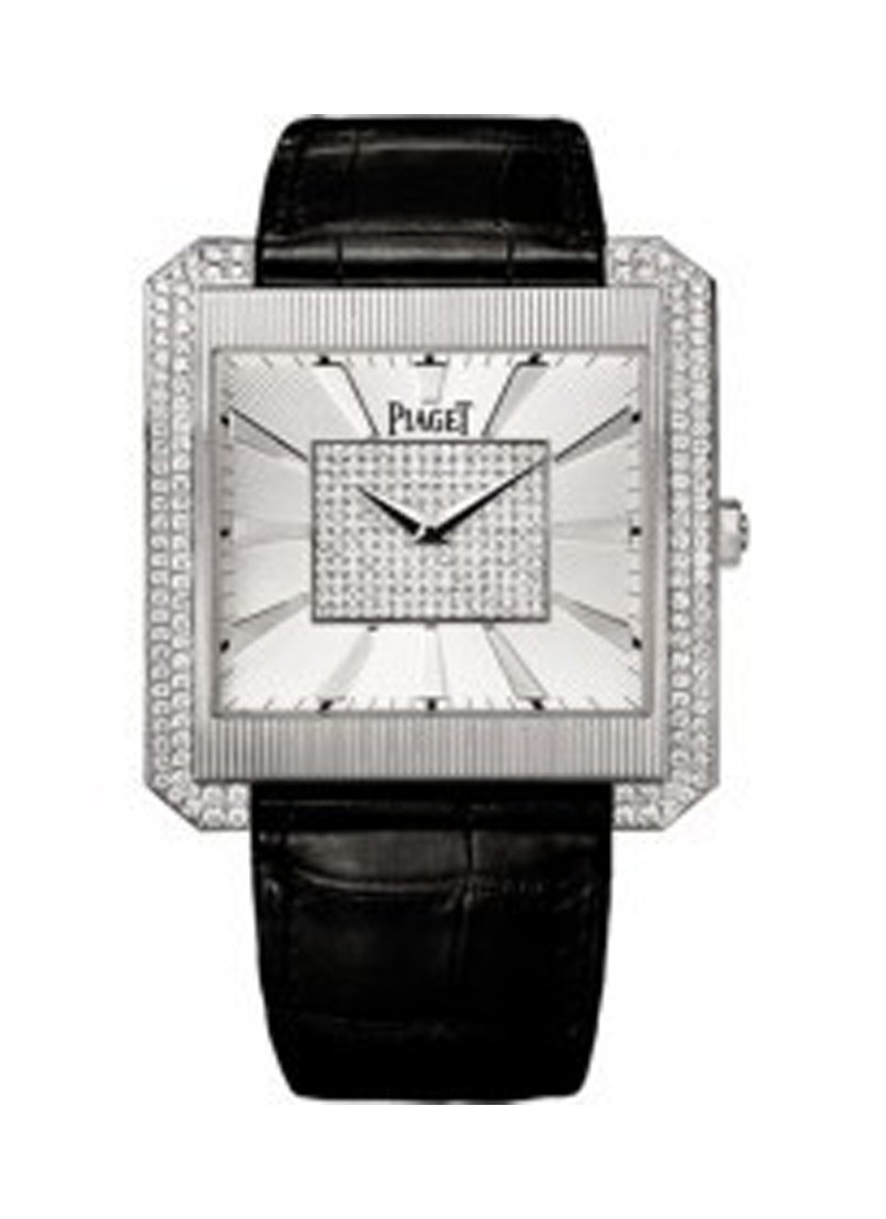 Piaget Black Tie Protocole XXL in White Gold with Diamond Bezel