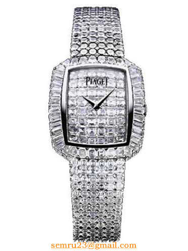 Piaget Limelight Elongated Cushion in White Gold with Diamond Bezel