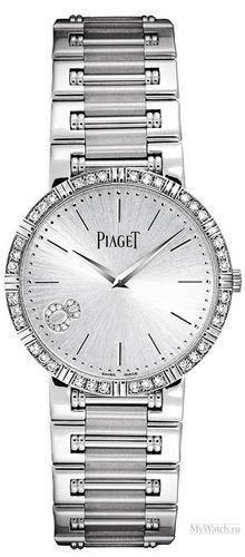 Piaget Lady's Round Dancer in White Gold with Diamond Bezel