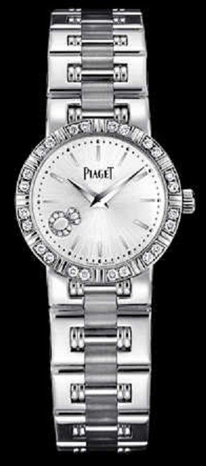 Piaget Lady's Round Dancer   Small Size in White Gold with with Diamond Bezel