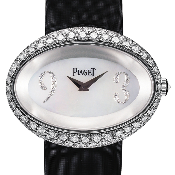 Piaget Limelight Oval in White Gold with Diamond Bezel