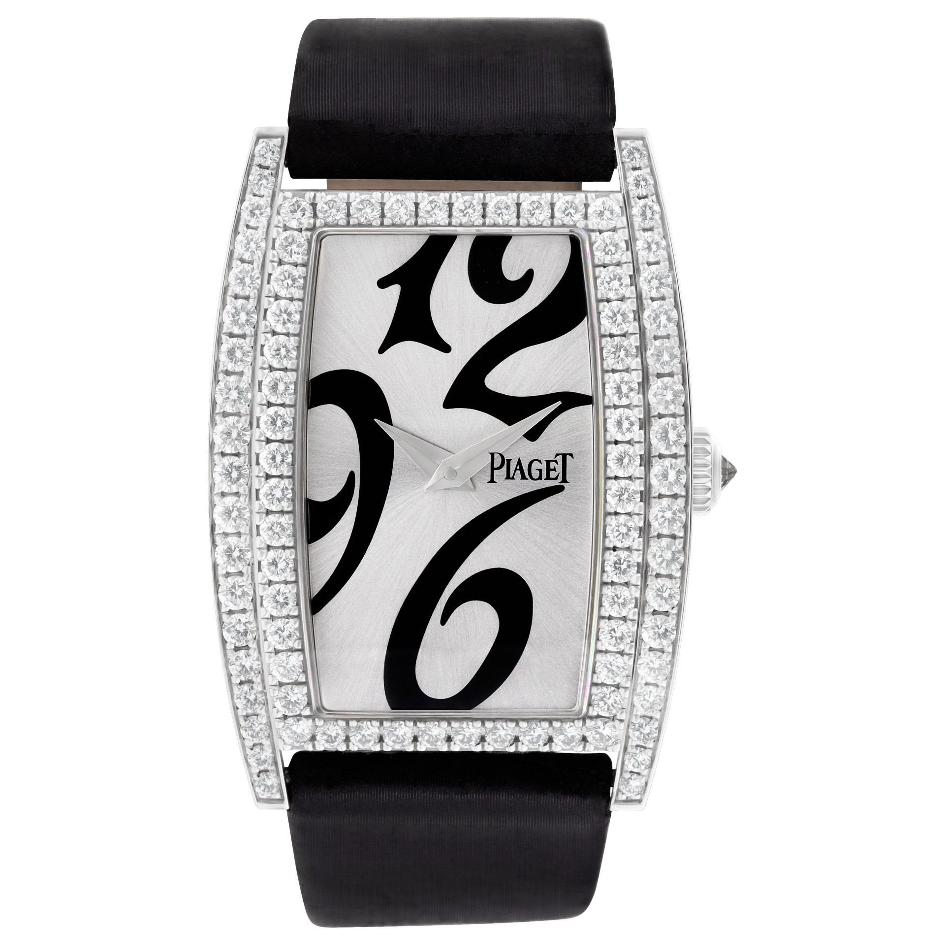 Piaget Limelight Tonneau - Mid Size in White Gold with Diamond Bezel