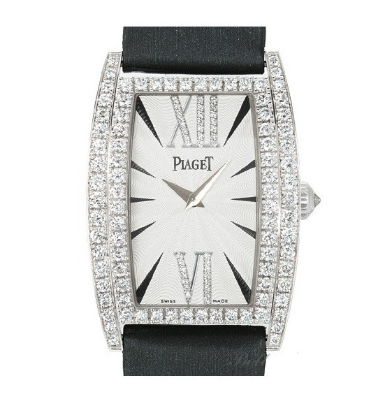 Piaget Limelight Tonneau   Mid Size in White Gold with Diamond Bezel
