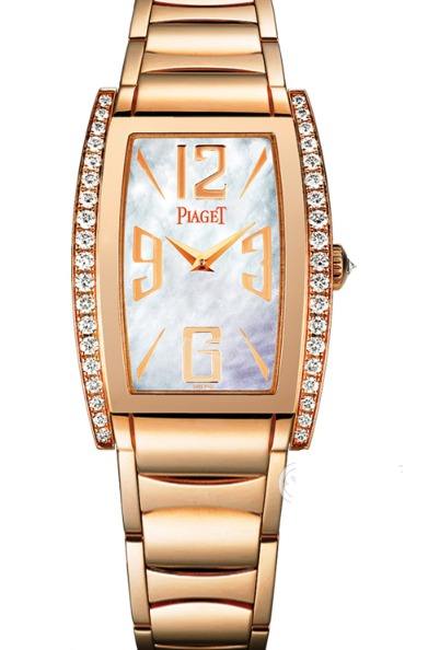 Piaget Limelight Tonneau - Mid Size in Rose Gold with Partial Diamond Bezel