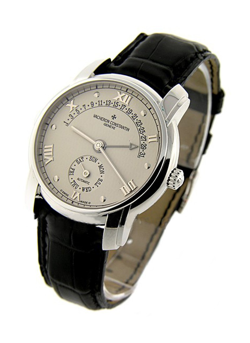 Vacheron Constantin Patrimony 31 Day Retrograde in White Gold