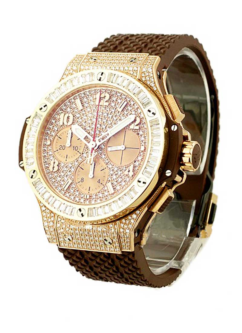 Hublot Big Bang Cappuccino 41mm in Rose Gold with Baguette Diamond Bezel