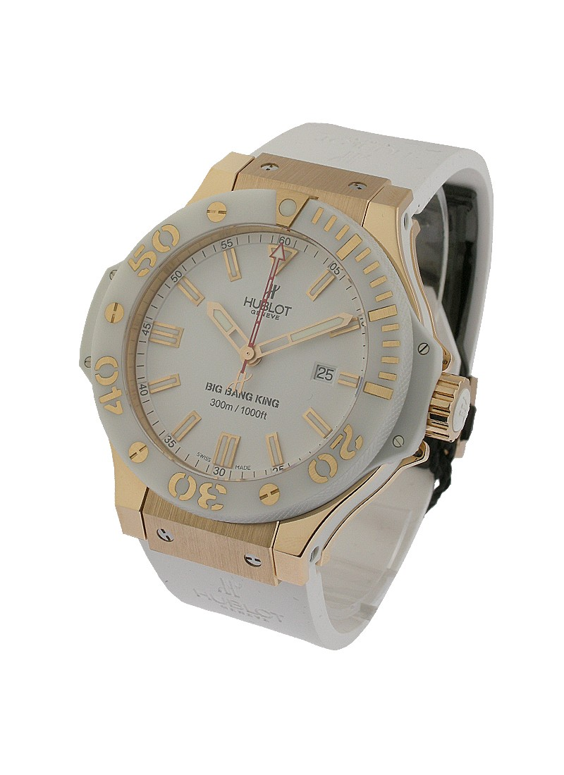 Hublot Rose Gold Big Bang King Rose Gold White Ceramic