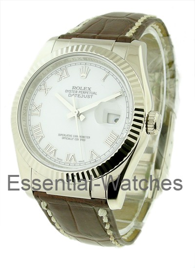 Rolex Unworn Men's Datejust   White Gold on Strap