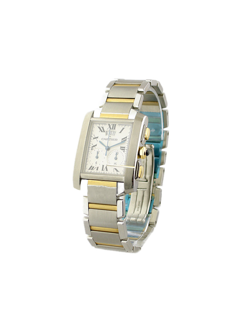 Cartier Tank Francaise Chronoflex in Steel and Yellow Gold