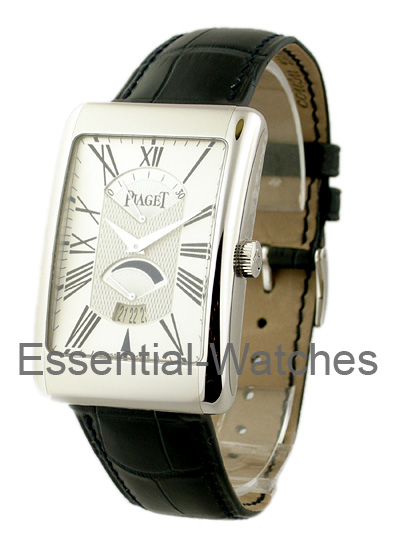 Piaget Black Tie Rectangle A L'Ancienne XL in White Gold