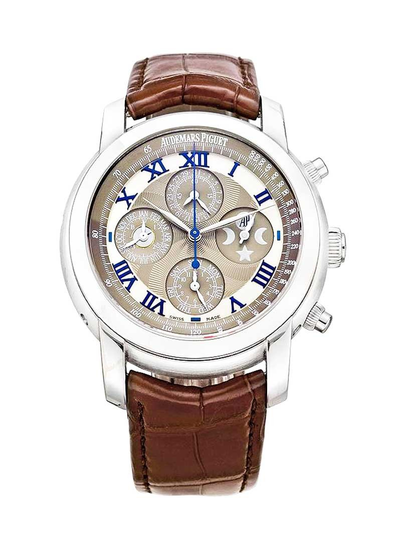 Audemars Piguet Jules Audemars Perpetual Chronograph in White Gold