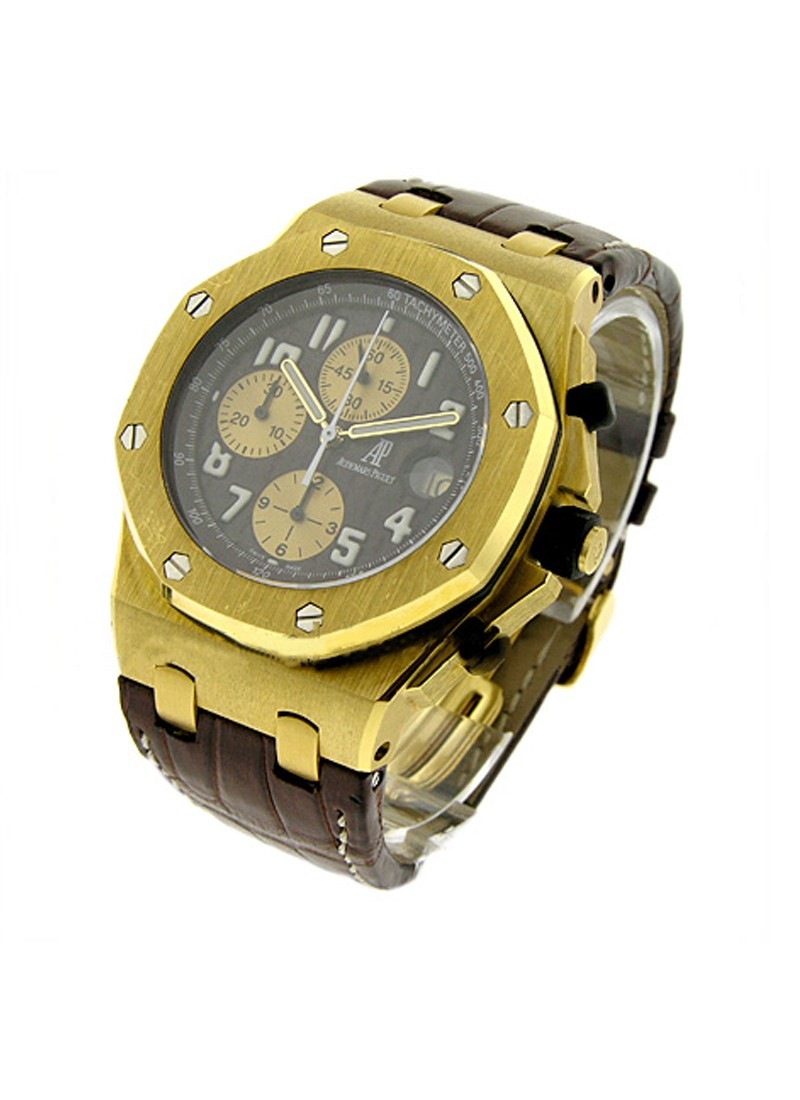 Audemars Piguet Arnold Schwarzenegger Offshore Chronograph in Yellow Gold