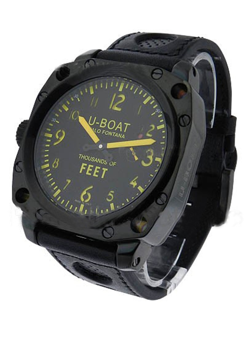 U-Boat Thousands of Feet 50mm   Series MB   Black PVD Steel