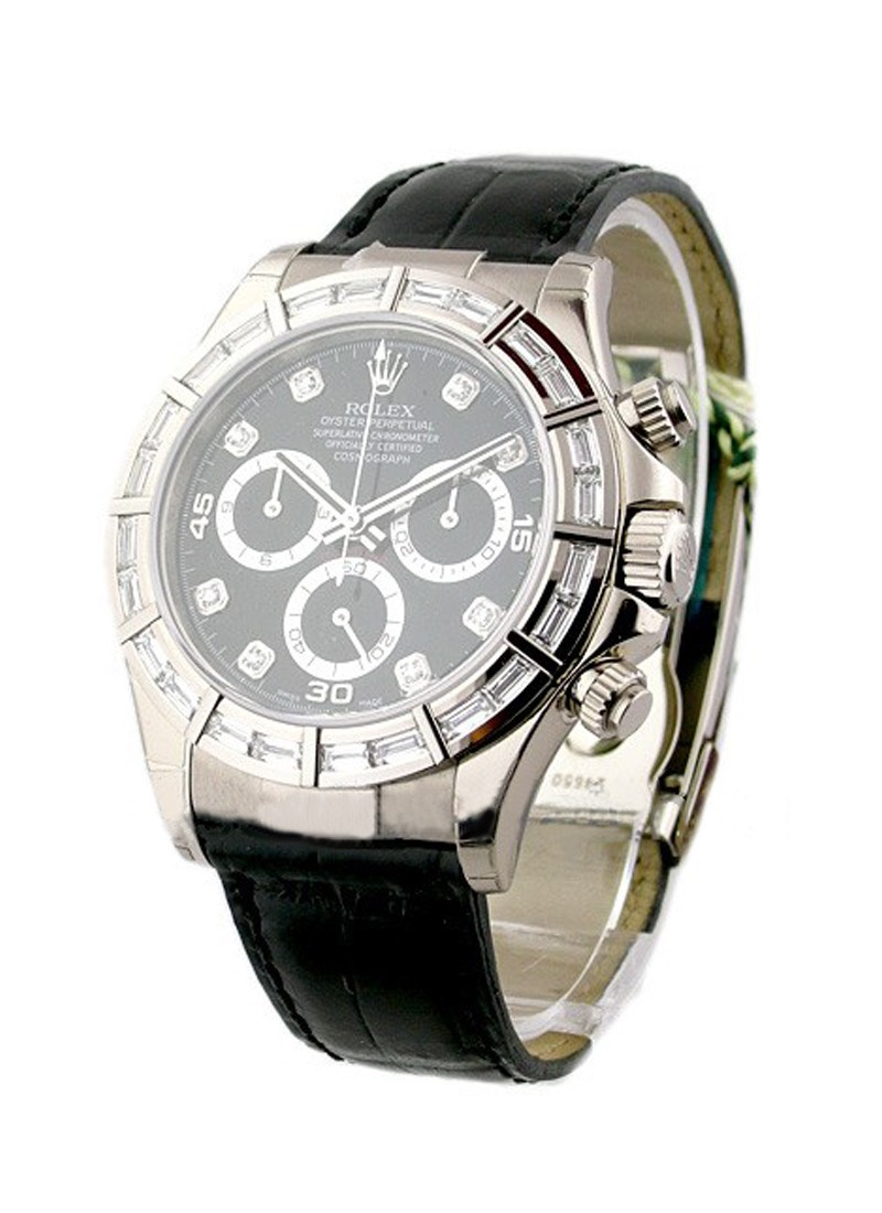 Rolex Used White Gold DAYTONA on Strap SPECIAL EDITION 116589