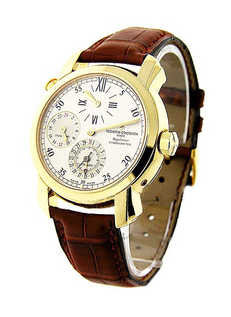 Vacheron Constantin Malte Dual Time Regulateur in Yellow Gold