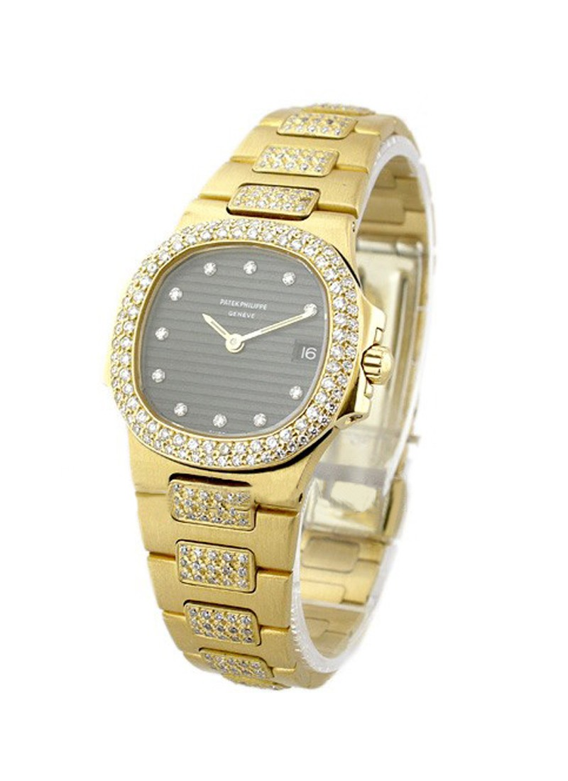 Patek Philippe Lady's Yellow Gold and Diamond Nautilus