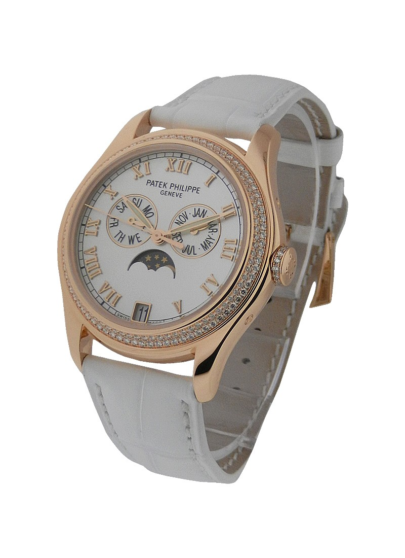 Patek Philippe 4936 Annual Calendar Ladies Diamond Bezel