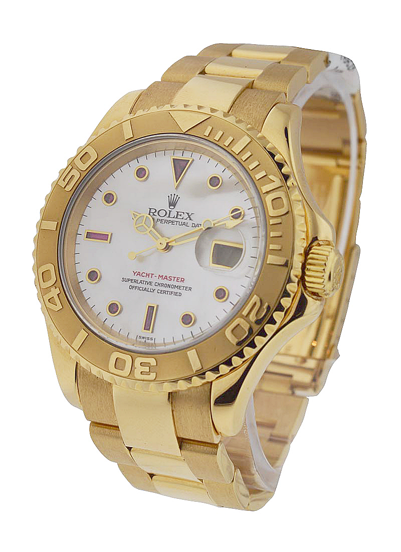Pre-Owned Rolex Yacht-master Large Size 40mm in Yellow Gold