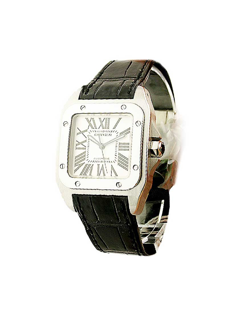 Cartier Santos 100 Small Size in Steel