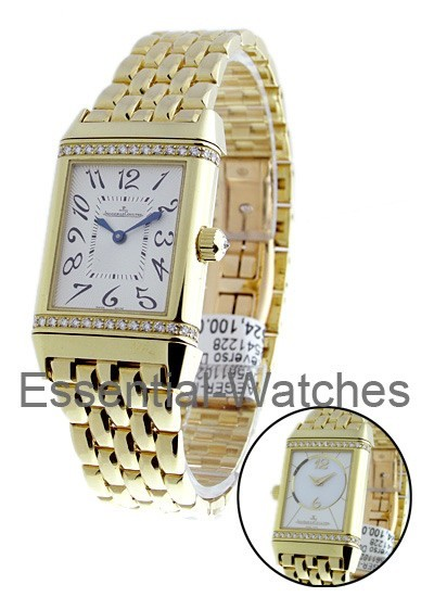 Jaeger - LeCoultre Reverso Duetto Classique in Yellow Gold with Diamond