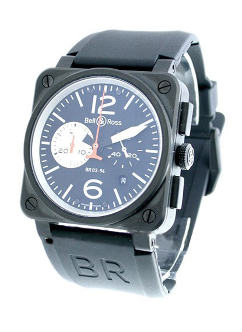 Bell & Ross BR03-94 Chronograph in Carbon PVD Steel