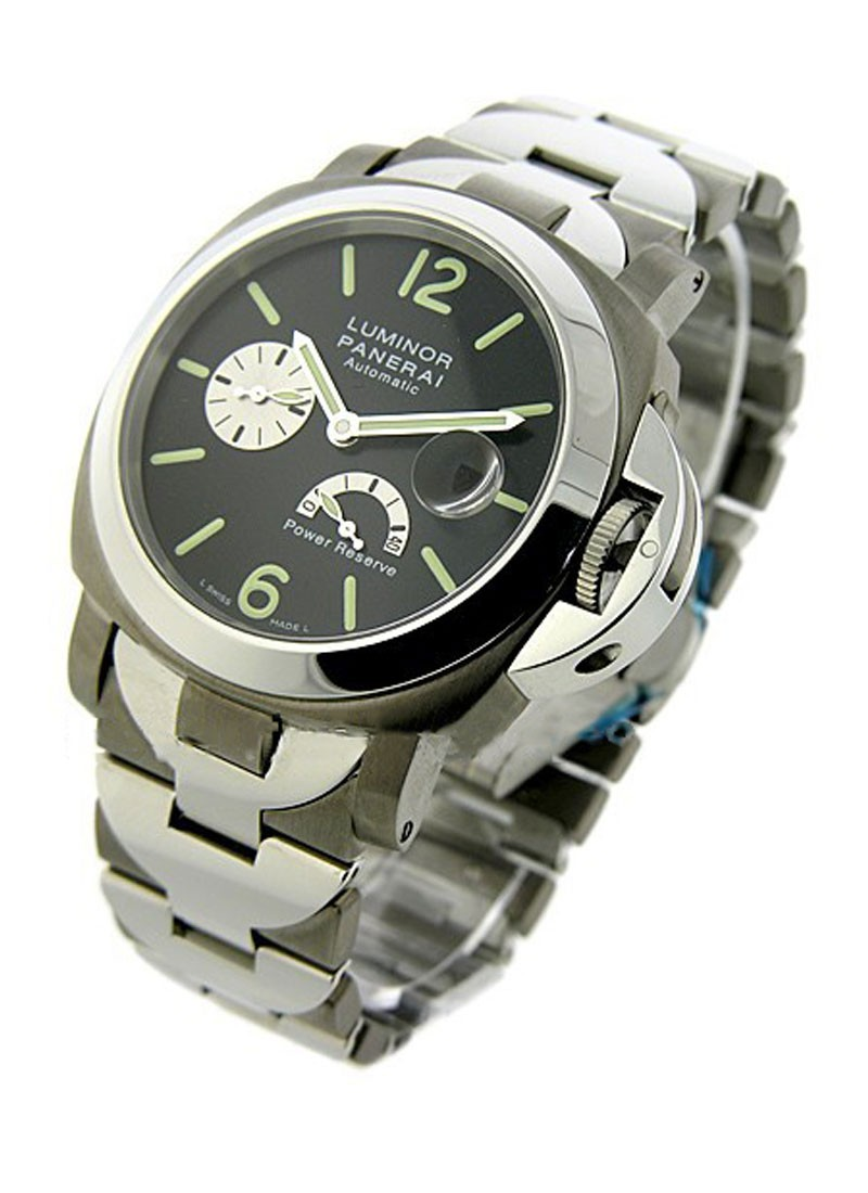 Panerai PAM 171  Luminor Power Reserve in Titanium with Steel Bezel